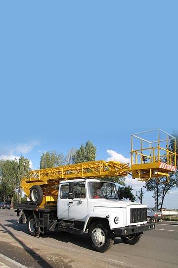 Автовышка АП-18-10 на шасси ГАЗ 3309