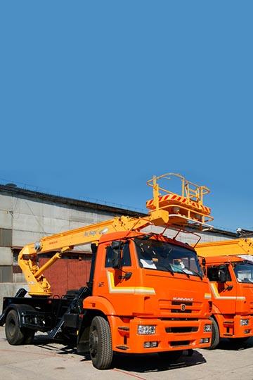Автовышка АПТ-18 на шасси КАМАЗ 43253