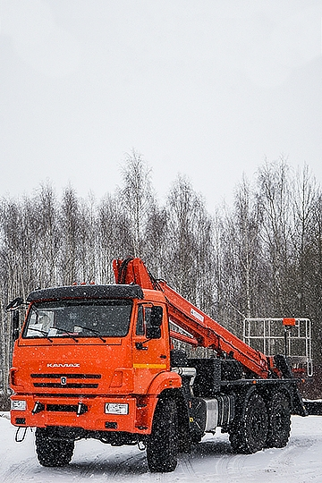 Автовышка ПМС-328Т на шасси КАМАЗ-43118