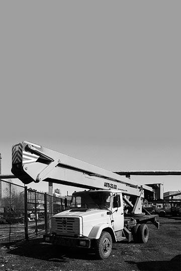 Автовышка ПСС-121.22-02 на шасси ЗИЛ 091020