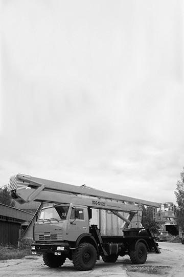 Автовышка ПСС-121.22 на шасси КАМАЗ 43502