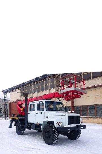 Автовышка ПСС-131.18Э на шасси ГАЗ 33088 (81) 5-ть мест
