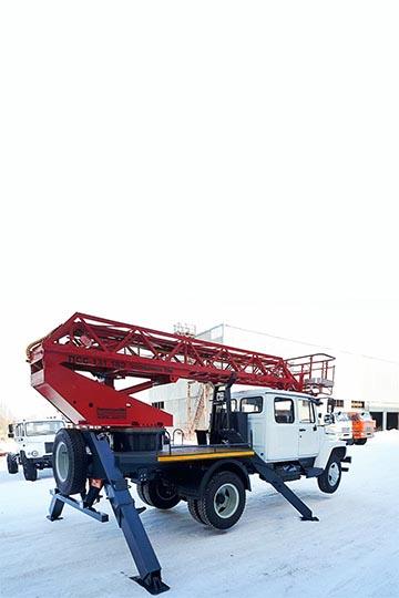 Автовышка ПСС-131.18Э на шасси ГАЗ 3309