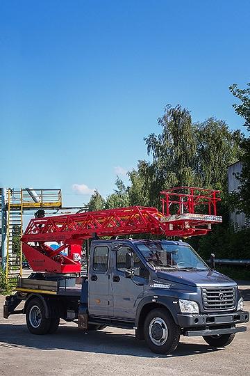 Автовышка ПСС-131.18Э на шасси ГАЗОН NEXT 7 мест