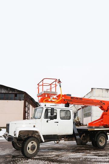 Автовышка ПСС-131.22Э на шасси ГАЗ 3309 5-ть мест