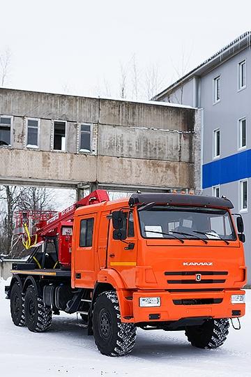 Автовышка ПСС-131.22Э на шасси КАМАЗ 43118 (7 мест)
