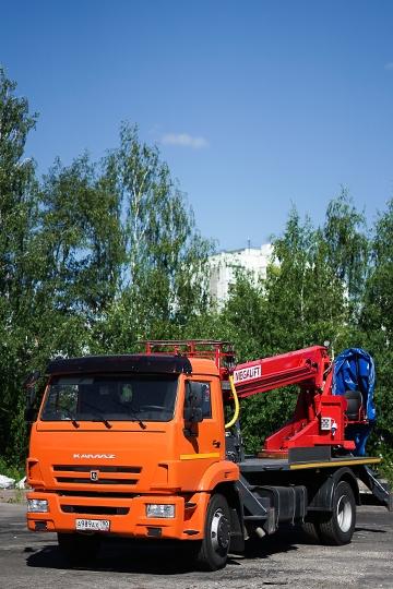 Автовышка ПСС-131.22Э на шасси КАМАЗ-43253