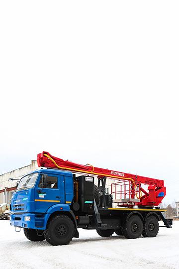Автовышка ПСС-141.29Э на шасси КАМАЗ 43114 ГБО