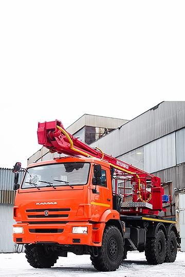 Автовышка ПСС-141.29Э на шасси КАМАЗ 43118 (6х6)