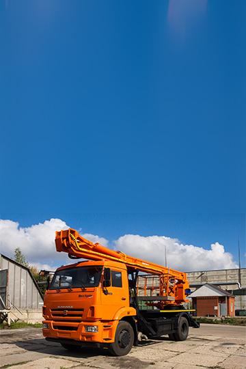 Автовышка ПСС-141.29Э на шасси КАМАЗ 43253