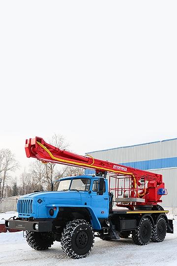Автовышка ПСС-141.29Э на шасси УРАЛ 4320 (6х6)