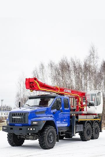Автовышка ПСС-141.29Э на шасси УРАЛ Next (7 мест)