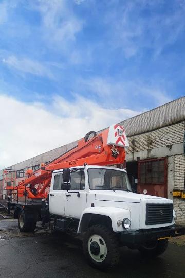 Автовышка ВС-22Т на шасси ГАЗ-3309 (5 мест)