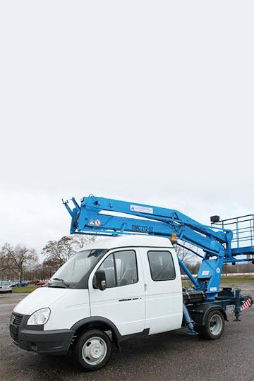 Автовышка ПМС-212-02Э на шасси ГАЗ 33023