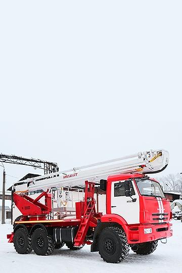 Пожарная автовышка ПСС-141.29Э на шасси КАМАЗ 43118