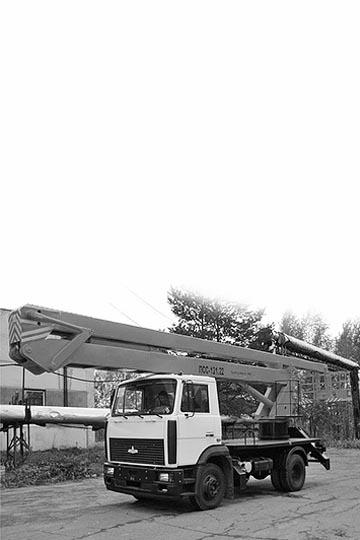 Автовышка ПСС 121.22 (АГП-22.02) на шасси МАЗ 438043