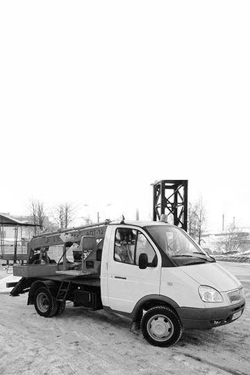 Автовышка ПСС-131.12Э (АПТ-12) на шасси ГАЗ 3302