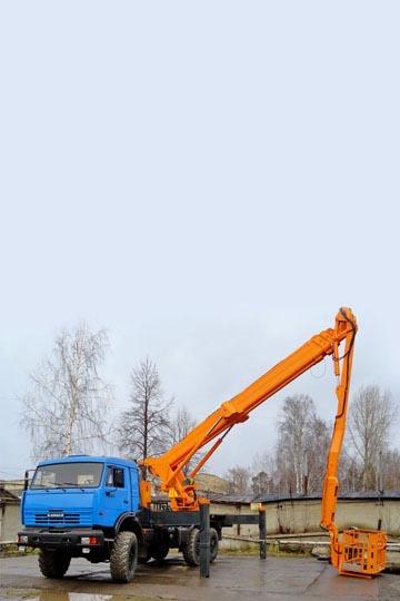 Автовышка ПСС-141.35 (АПТ-35) на шасси КАМАЗ 65115
