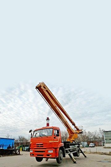 Автовышка ВС-22.06 на шасси КАМАЗ 43253