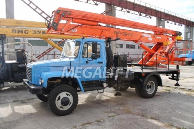 Автовышка ПМС-318 на шасси ГАЗ-3309