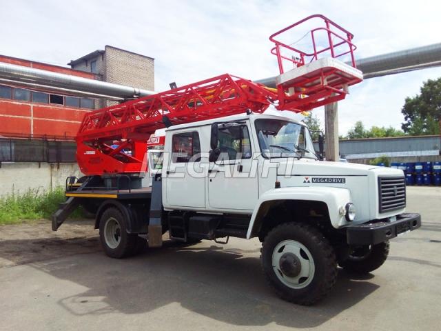 Автовышка ПСС-131.17Э на шасси ГАЗ 33086 5-ть мест