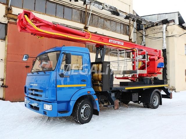 Автовышка ПСС-141.29Э на шасси КАМАЗ 4308 (ГБО)