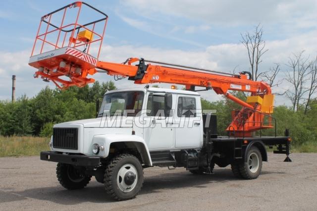 Автовышка ВС-18Т на шасси ГАЗ-3309 (5 мест)