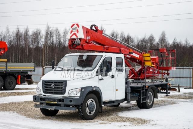 Автовышка ВС-22Т на шасси ГАЗон NEXT (7 мест)
